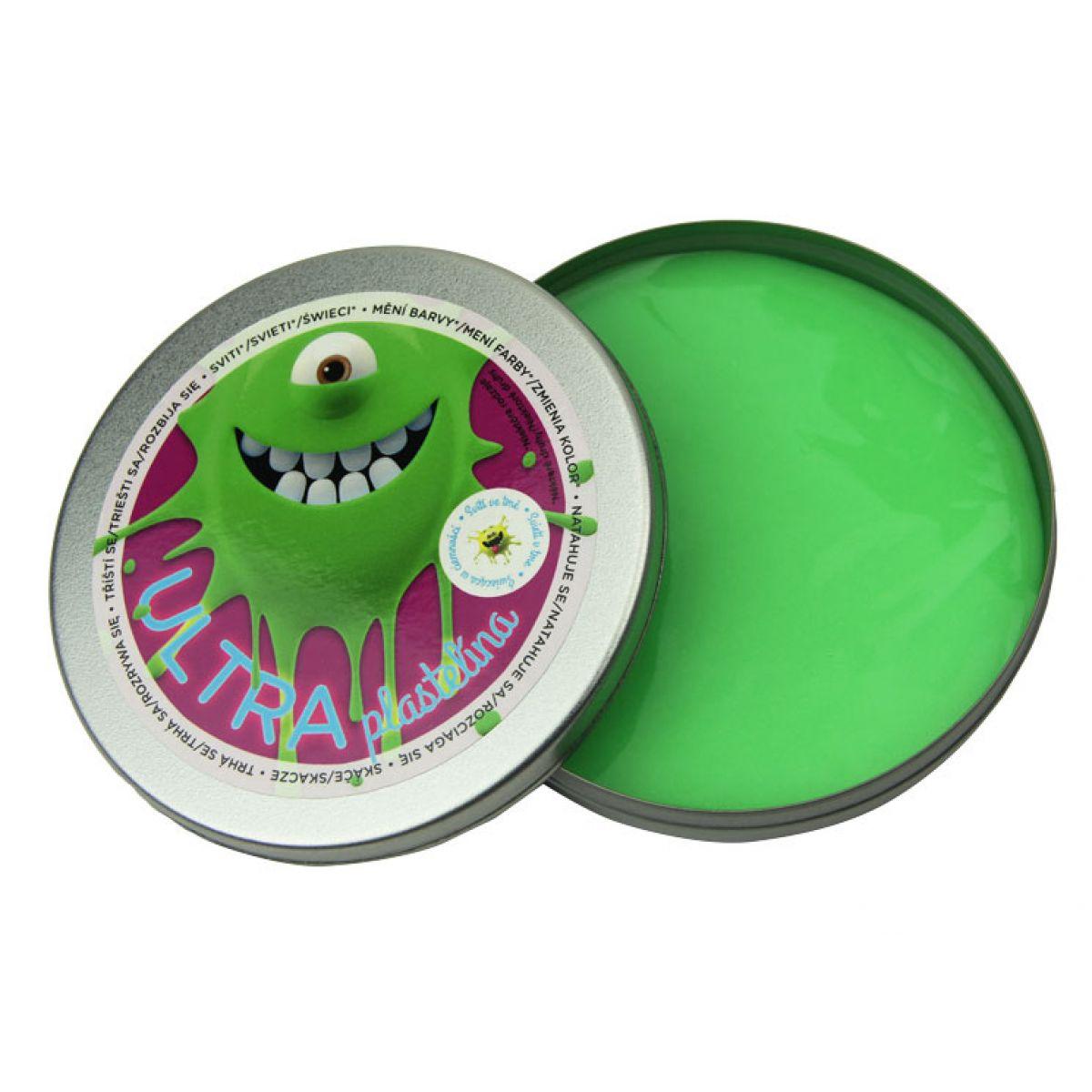 EP Line Ultra Plastelína Svietiaca 80 g - Zelená