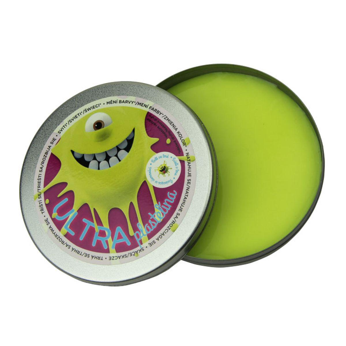 EP Line Ultra Plastelína Svietiaca 80 g - Žlutá