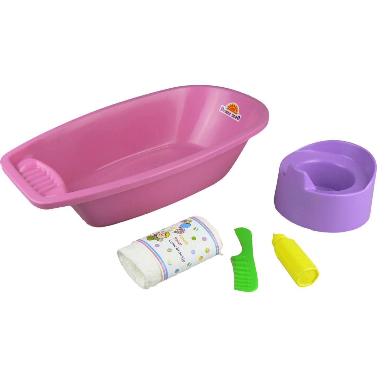 Vanička s nočníkom a doplnky - Ružová vanička