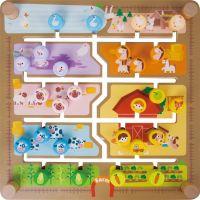 Vkladačka a edukačné labyrint 2v1 drevený