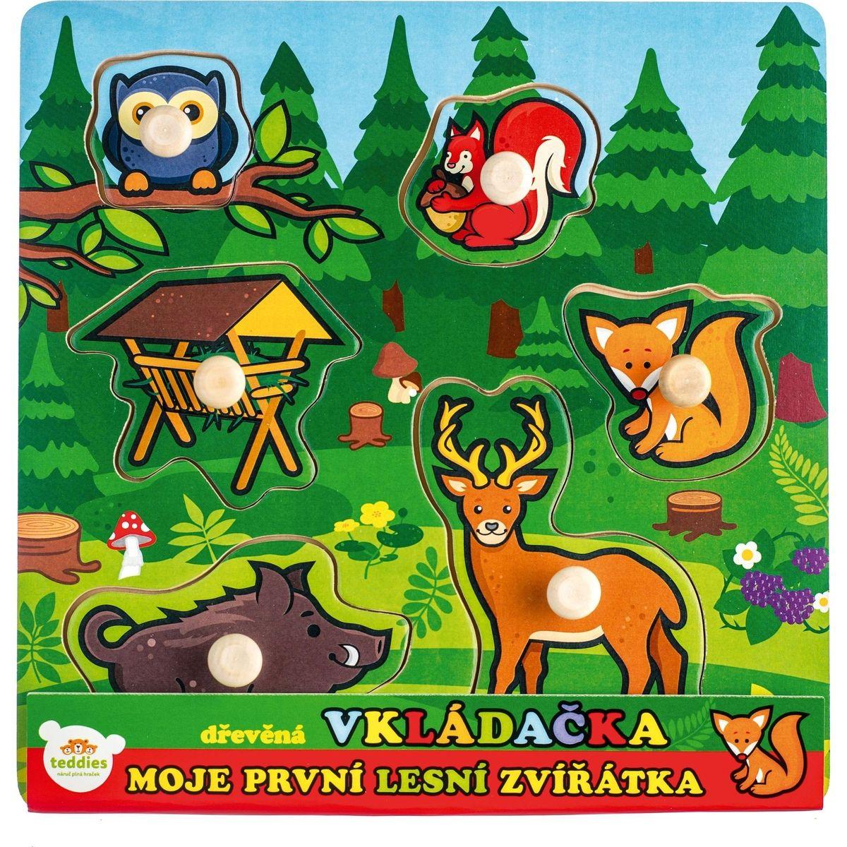 Vkladačka drevená Moje prvé lesné zvieratká