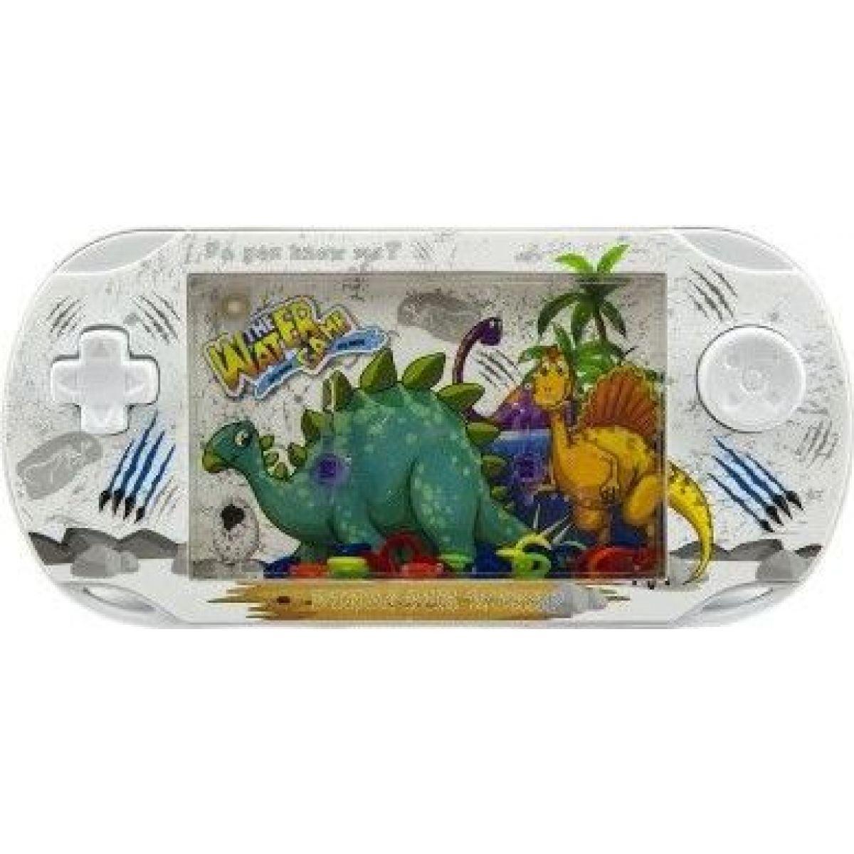 Vodná hra hlavolam s dinosaurom biela