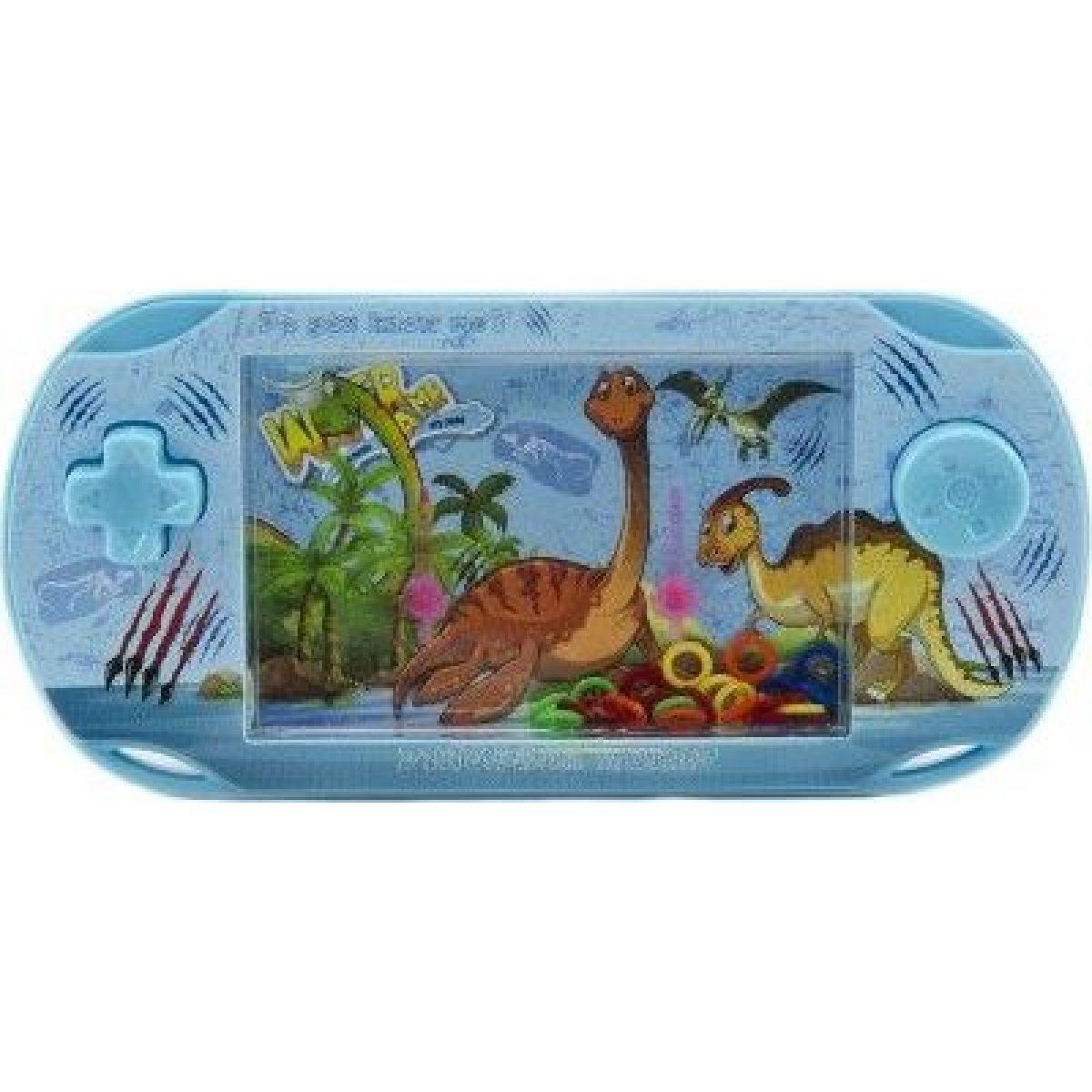 Vodná hra hlavolam s dinosaurom modrá