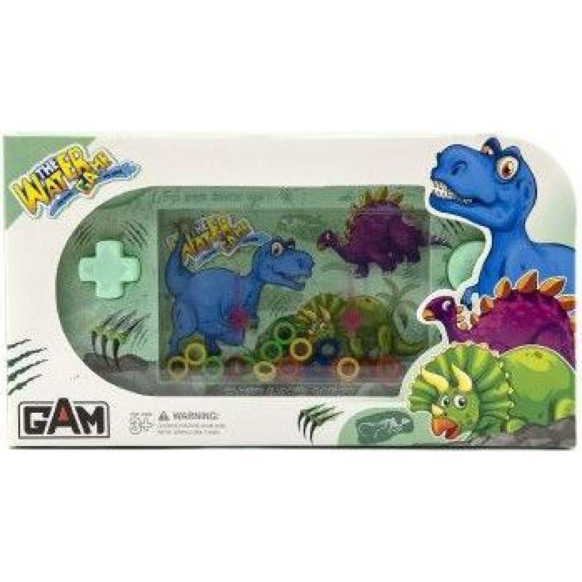 Vodná hra hlavolam s dinosaurom zelená