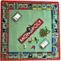 Vopi Monopoly koberec s figurkami 92 x 92 cm