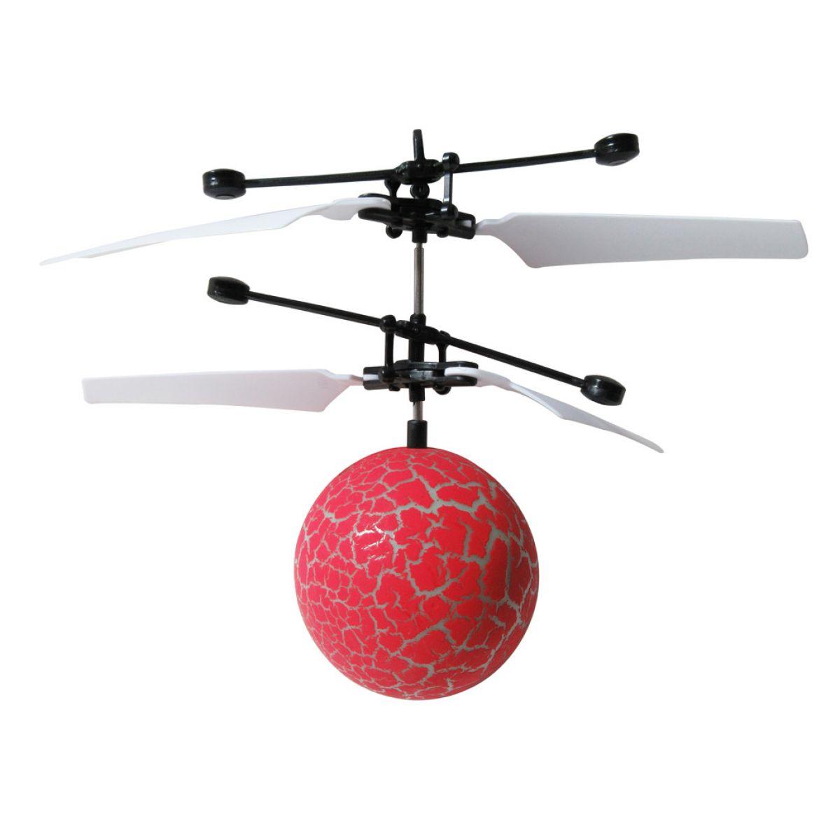 Vrtuľníková guľa s LED červená