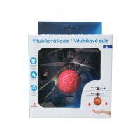 Vrtuľníková guľa s LED červená 2