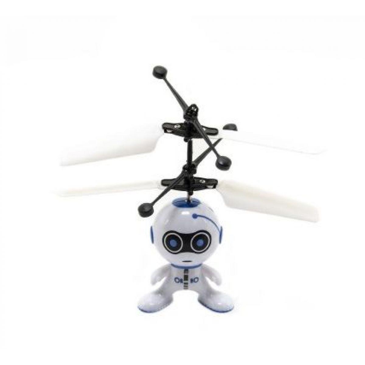 Vrtuľníkový robot lietajúce s USB káblom modrý