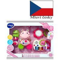 Vtech První dárek pro miminko CZ - růžový
