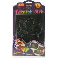 Vyškrabovací obrázek barevný sloník