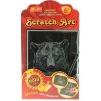 Vyškrabovací obrázek zlatý medvěd