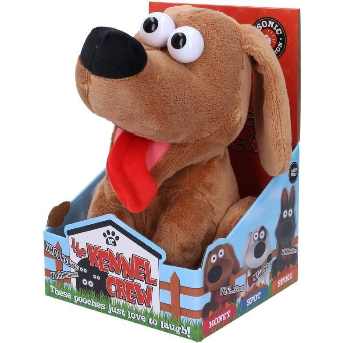 Vysmiaty psík so zvukovými efektmi 21 cm