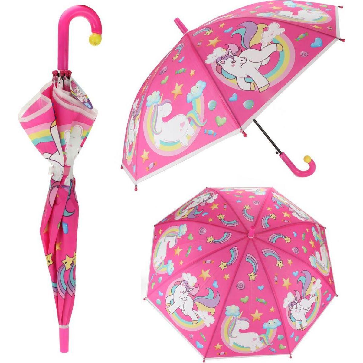 Vystreľovací detský dáždnik Jednorožec