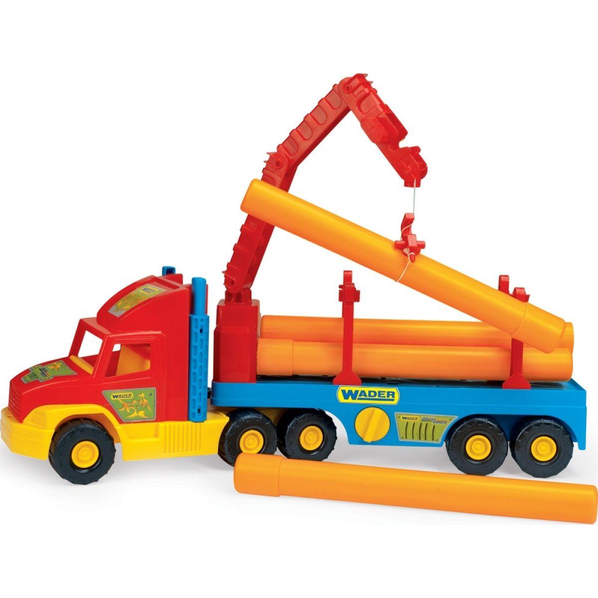 WADER Super Truck stavebné s rúrami