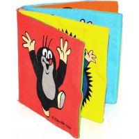 Wiky knížka Krtek textilní rozkládací 10x10cm na kartě