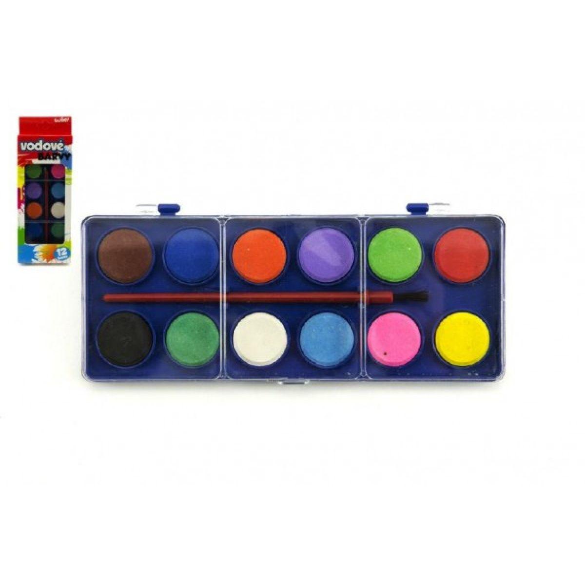 Wiky Vodové farby 12 farieb v krabičke