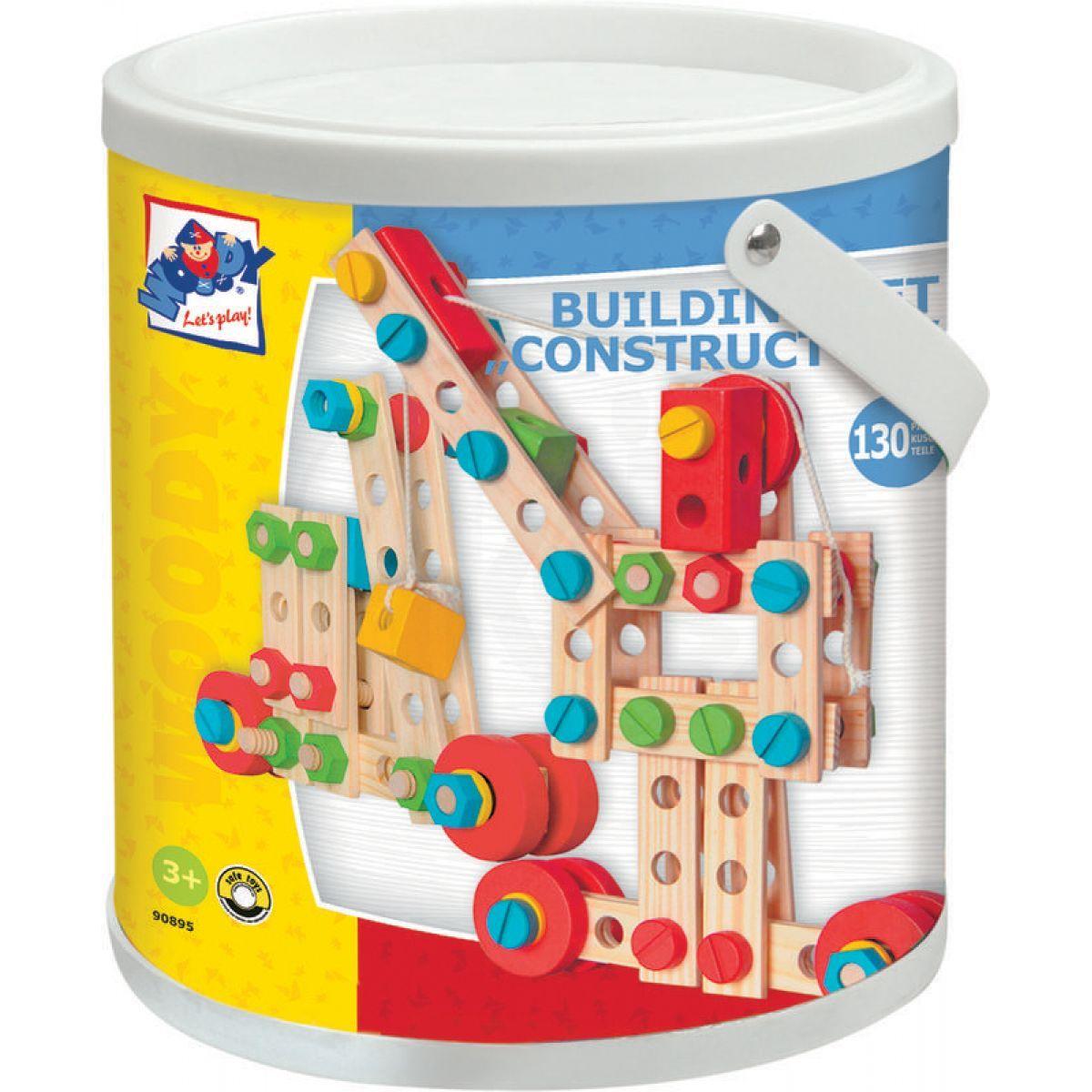 Woody 90895 Constructor v kyblíku 130 dielikov