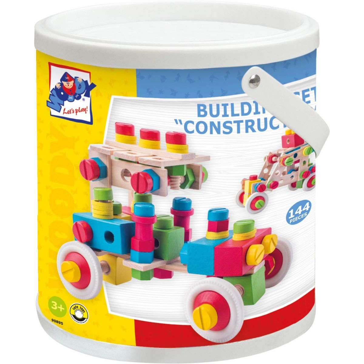Woody 90895 Constructor v kyblíku 144 dielikov
