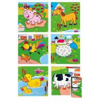 Woody Kubus 3x3 Zvířata 2