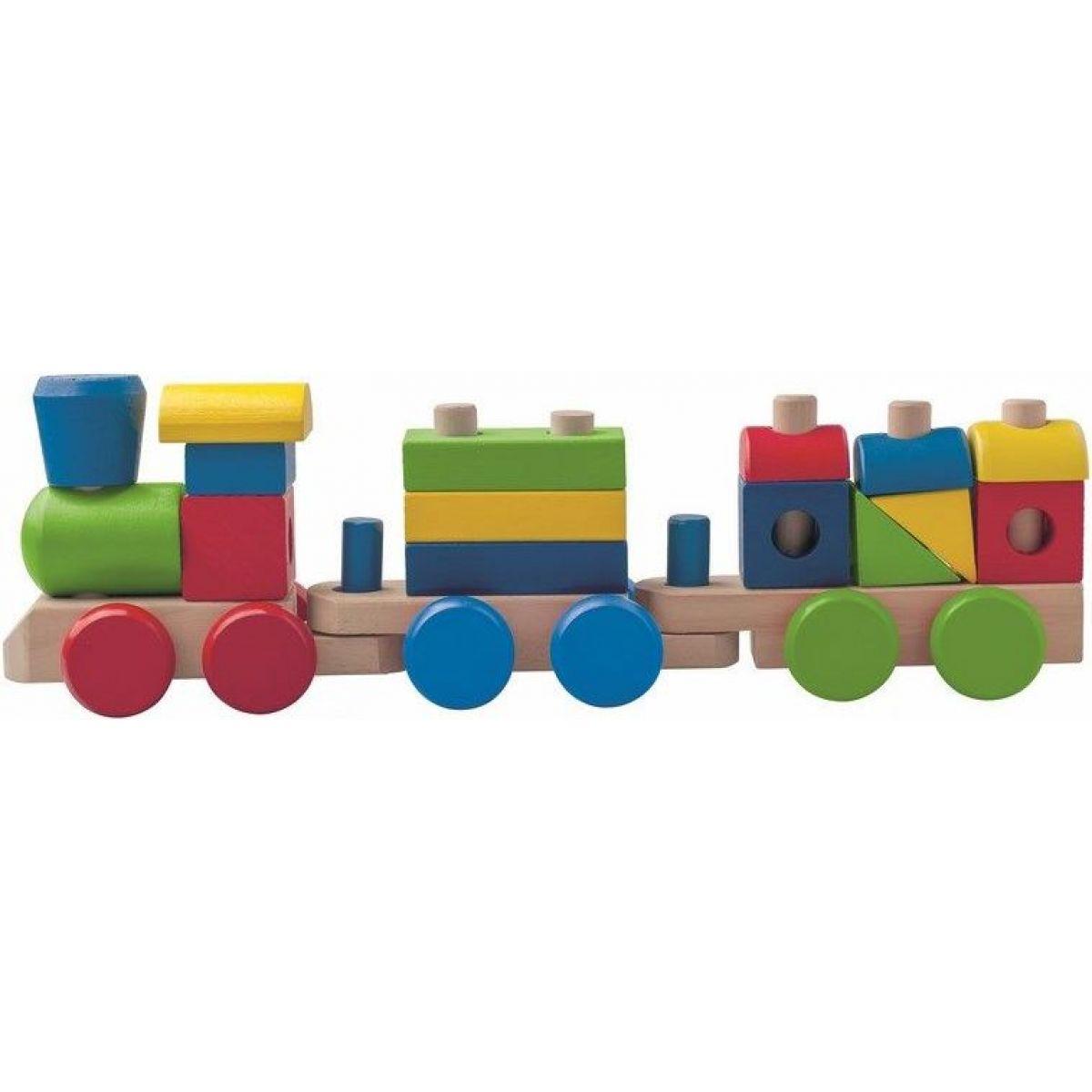 Woody Drevený skladací nákladný vlak - dva vagony