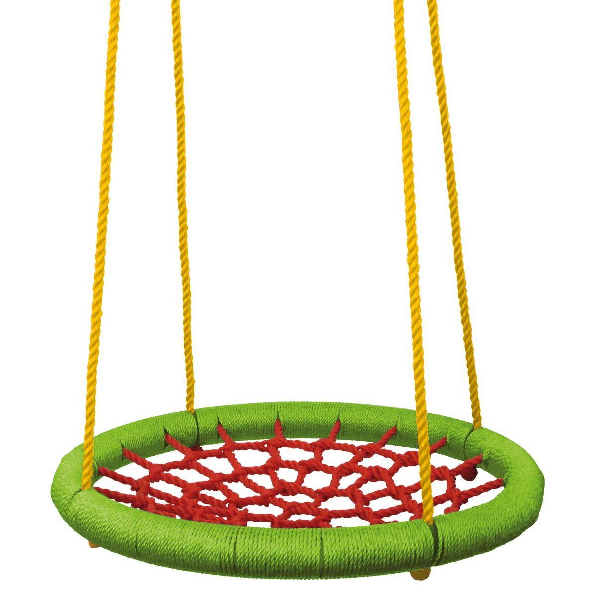 Woody Hojdací kruh priemer 83 cm zelenočervený