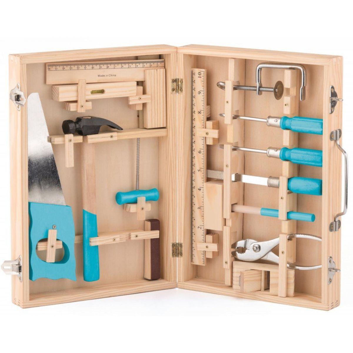 Woody Kovové náradia v drevenom kufríku