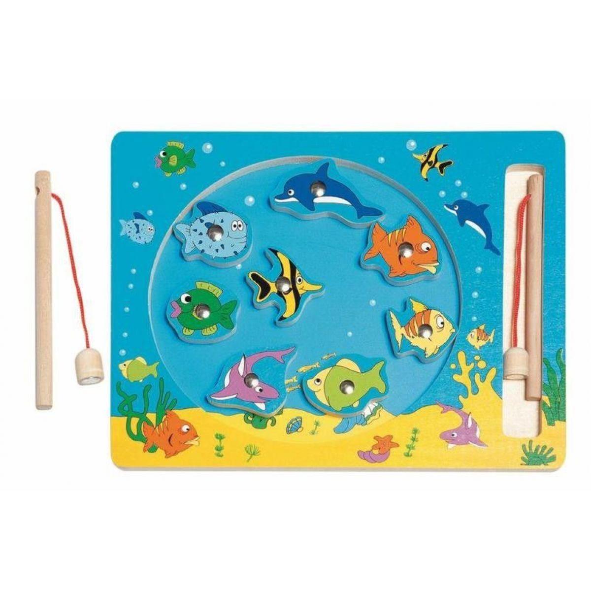 Woody Kruh Rybolov magnetická hra