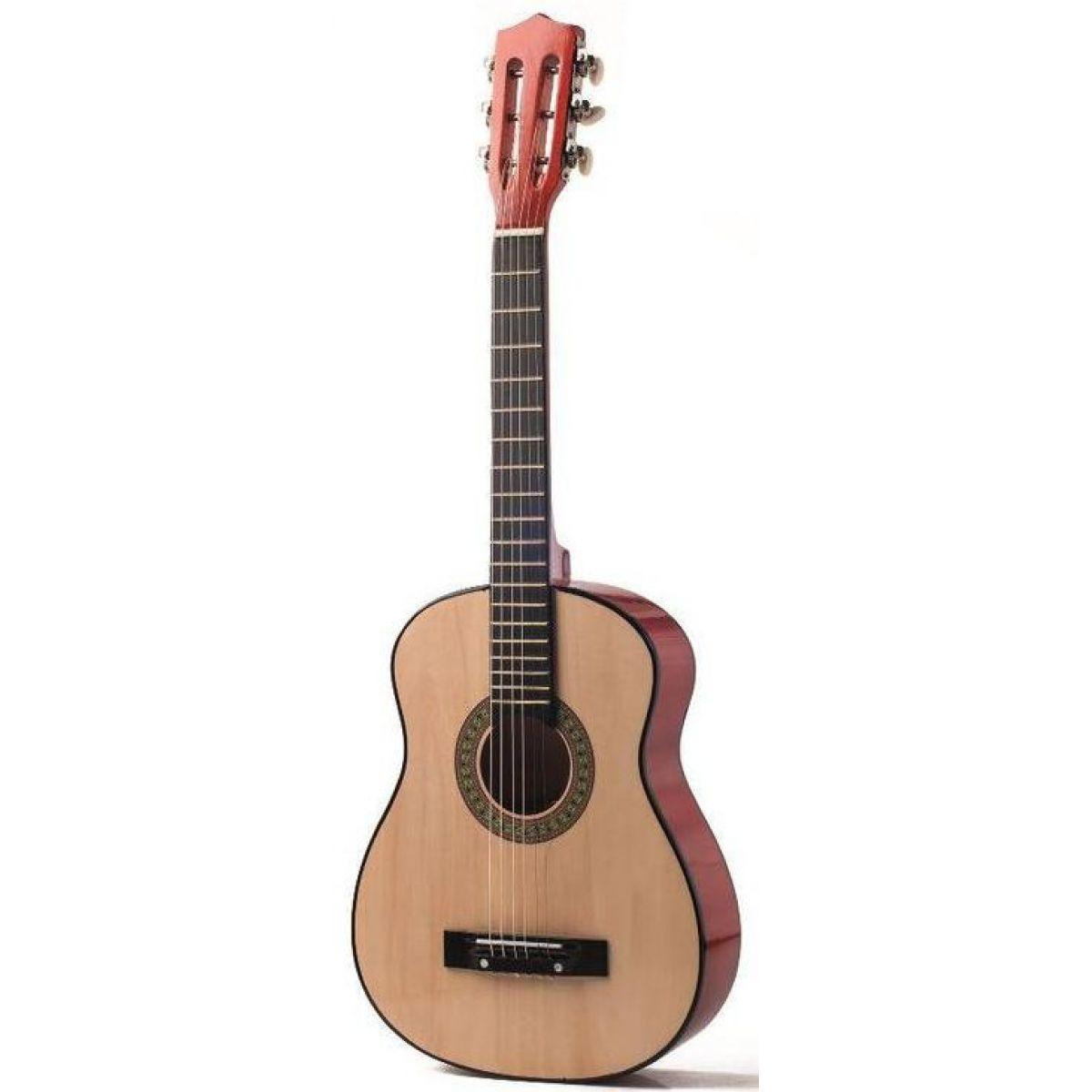 Woody Gitara drevená kovové struny 80 cm