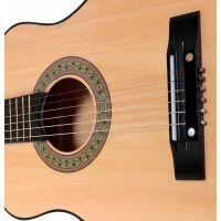 Woody Gitara drevená kovové struny 80 cm 2