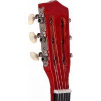 Woody Gitara drevená kovové struny 80 cm 3