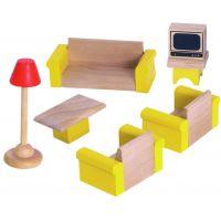 Woody Dřevěné hračky Nábytek do domečku Obývací pokoj