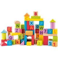 Woody 91842 Kocky pastelové s písmeny a číslicemi
