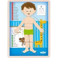 Puzzle Ľudské telo - Chlapec CZ