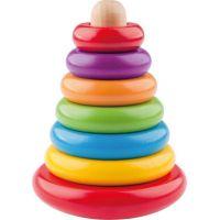 Woody Skladacia pyramída farebná Kača na stojančeku
