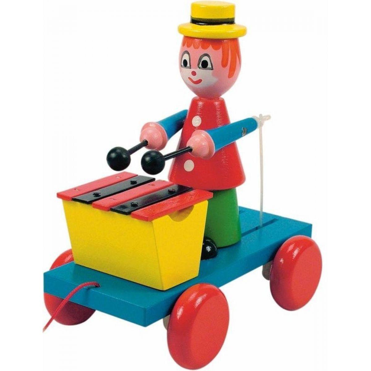 Woody Ťahací klaun s xylofónom