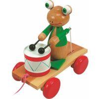 Woody Ťahací žaba s bubnom