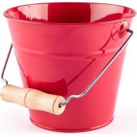 Záhradný kýblik - červený, kov