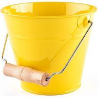 Záhradný kýblik - žltý, kov