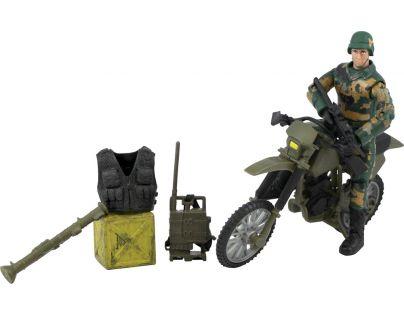 World Peacekeepers Figurka vojáka s doplňky Voják na motorce