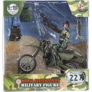 World Peacekeepers Figurka vojáka s doplňky Voják na motorce 2