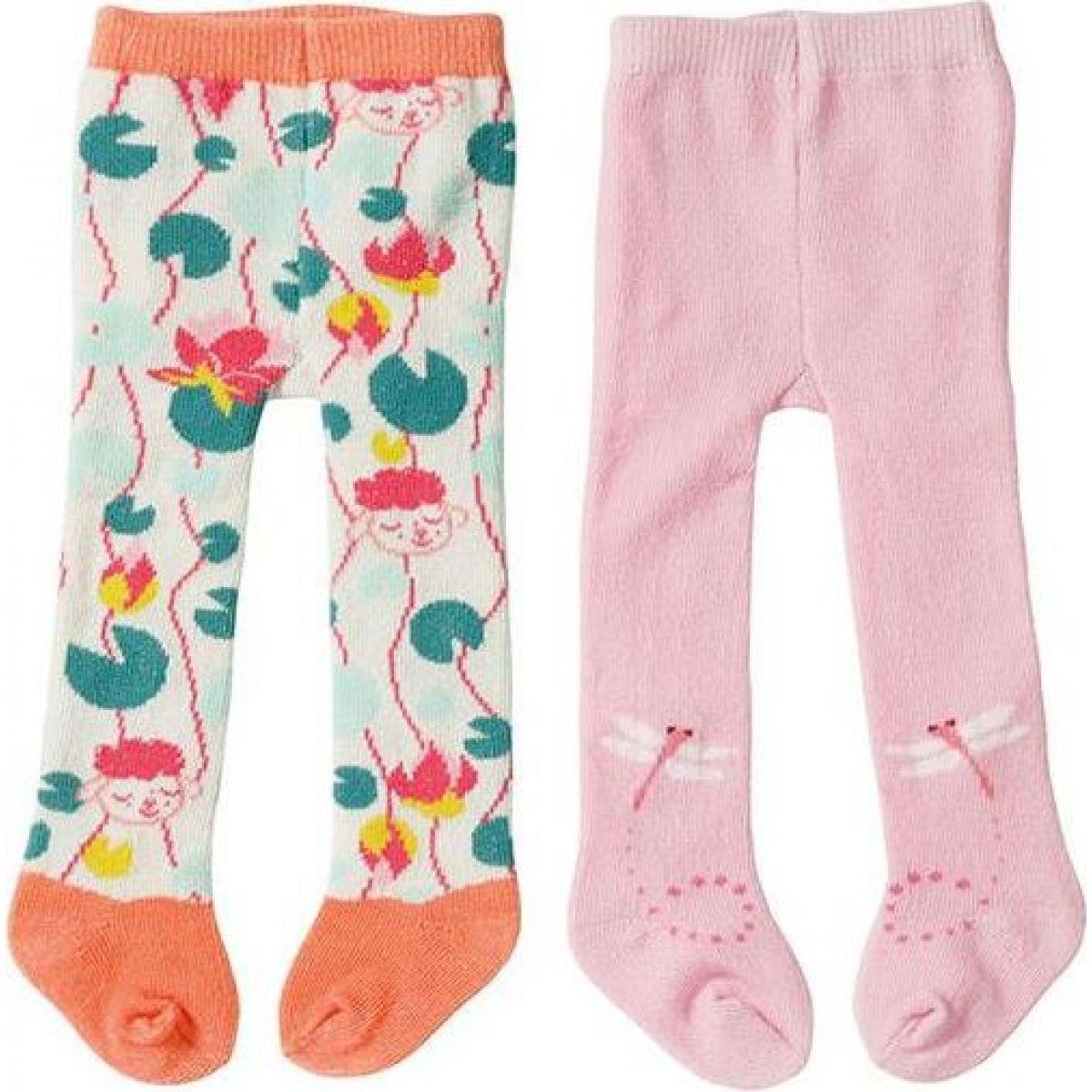 Zapf Creation Baby Annabell ® Pančuchy 2ks 43 cm ružové + oranžové s ovečkou