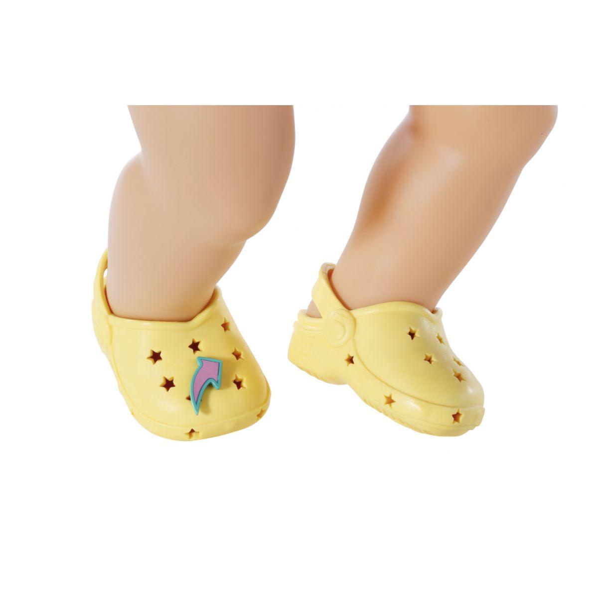 Zapf Creation BABY born Gumové sandálky žlté