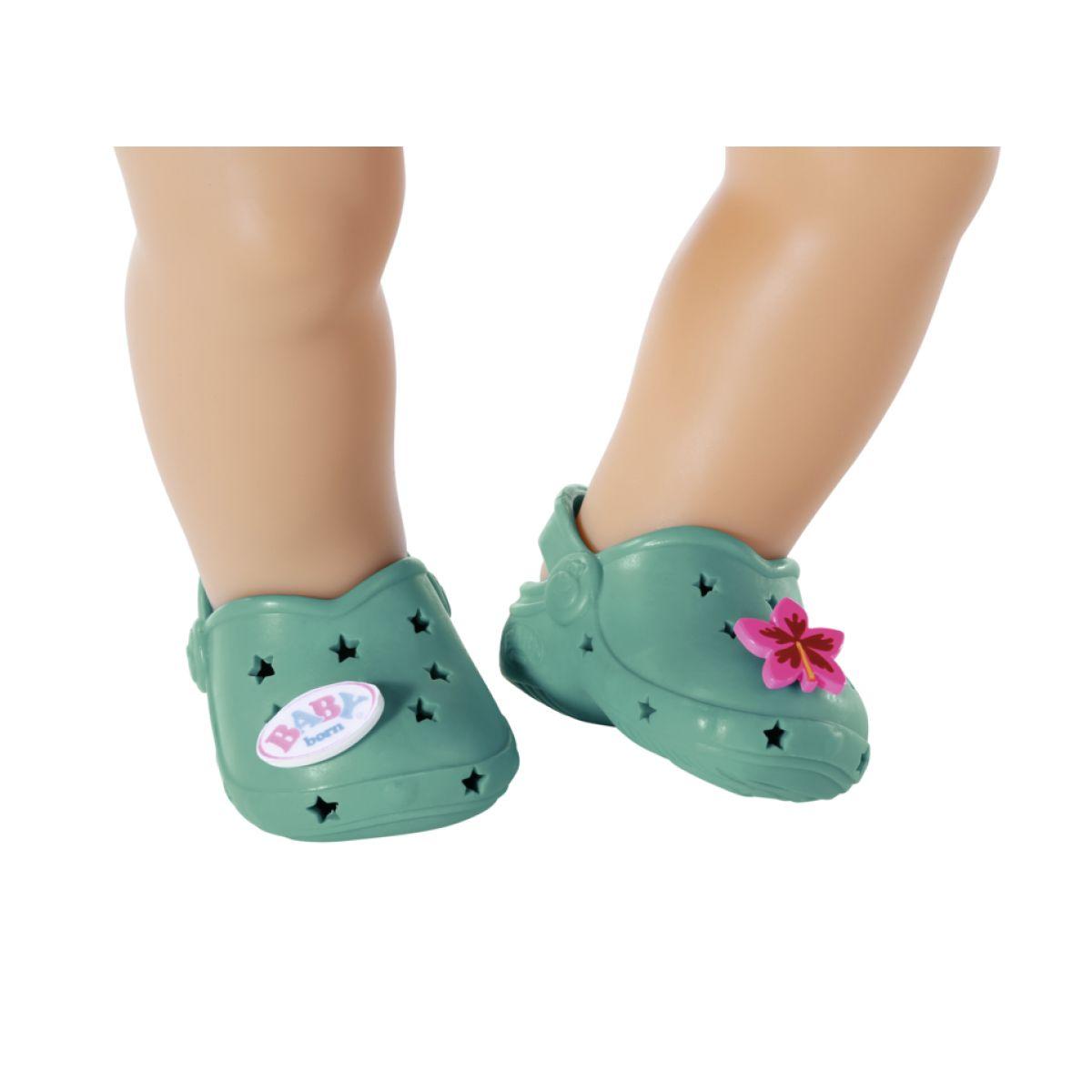 Zapf Creation BABY born Gumové sandálky zelené