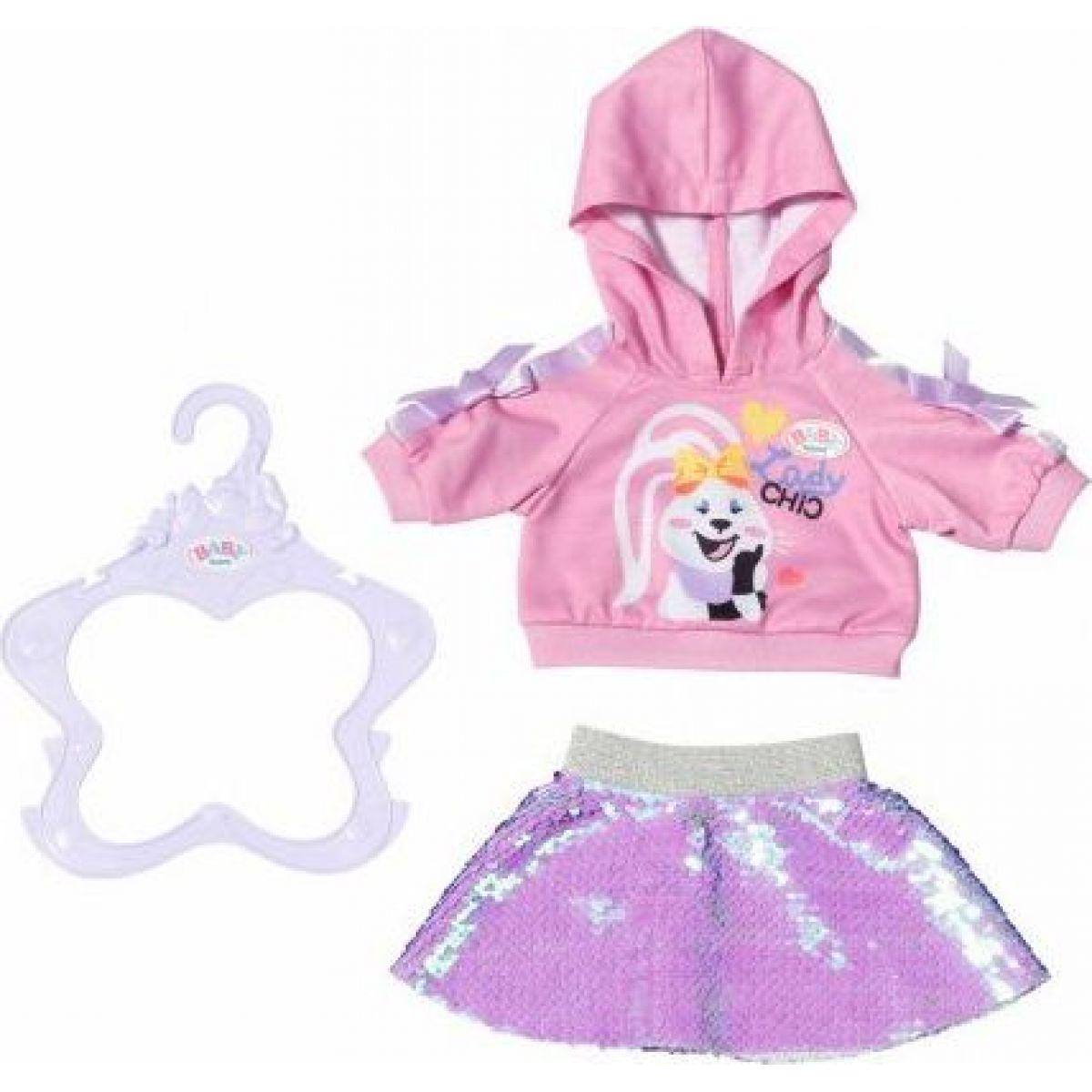 Zapf Creation Baby born Staršie sestrička Módne oblečenie 43 cm mikina a sukne