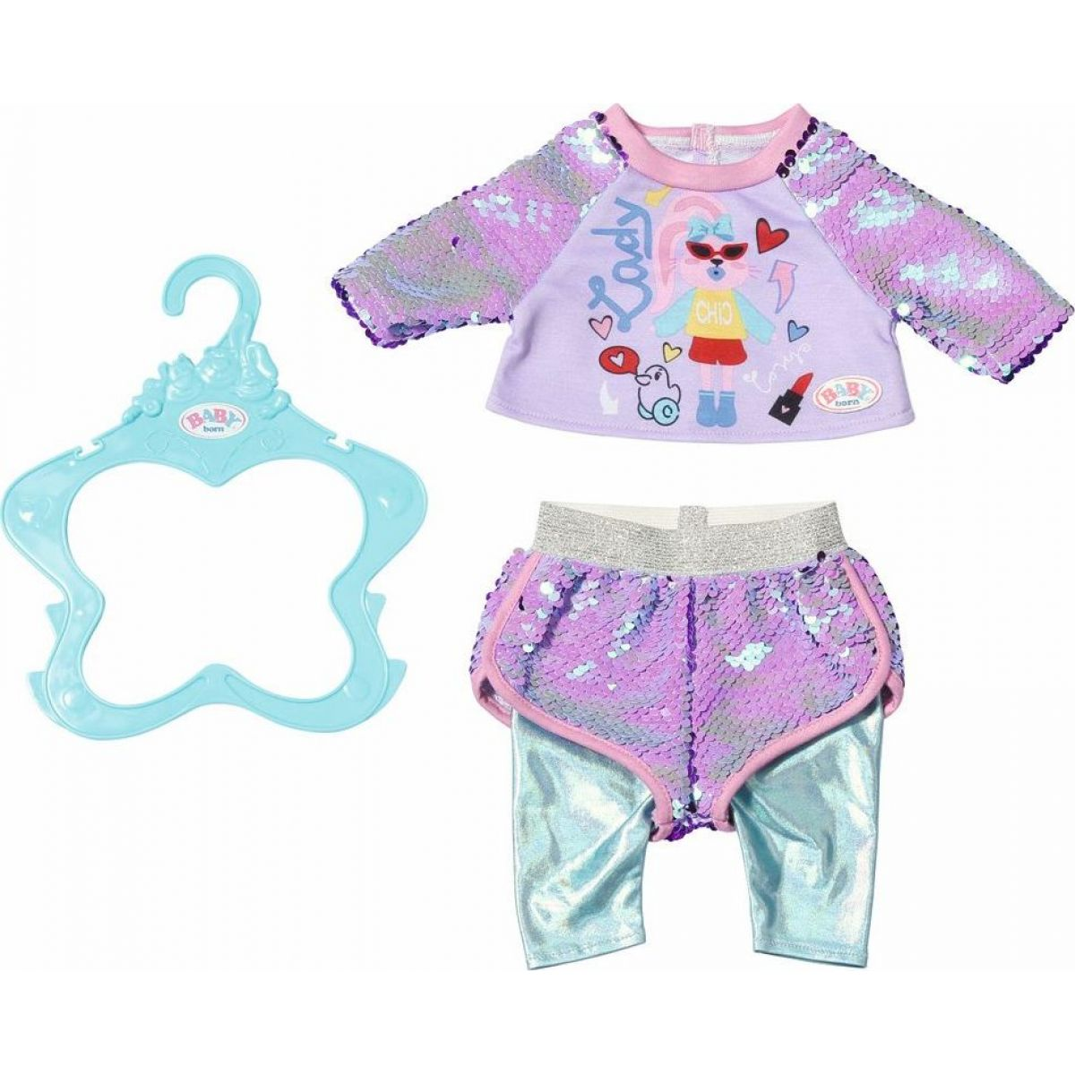Zapf Creation Baby born Staršie sestrička Módne oblečenie 43 cm tričko a nohavice