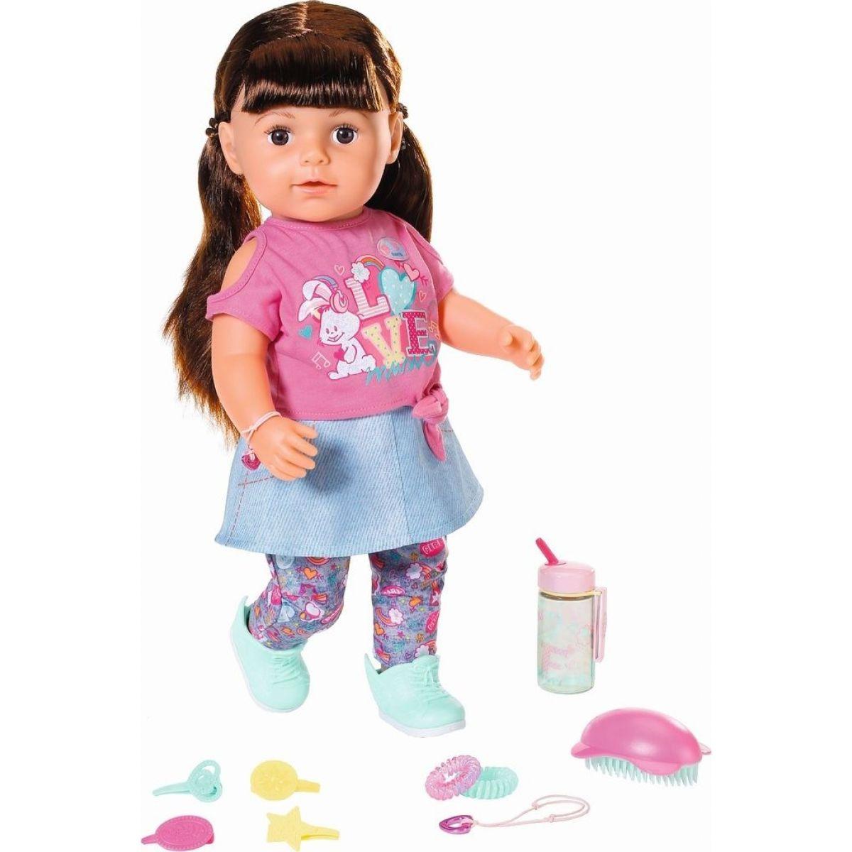 Zapf Creation BABY born Starší sestřička Soft Touch brunetka, 43 cm