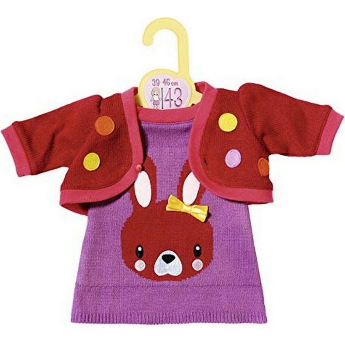 Zapf Dolly Moda Oblečenie s pletenou bundičkou 43cm