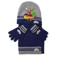 Zimní dětská souprava šedo-modrá Goofy