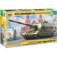 Zvezda Model Kit military 3677 Koalitsiya-SV Russian SPG 1:35